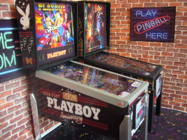 Playboy Anniversary  1/12th Scale Miniature Pinball Table Model